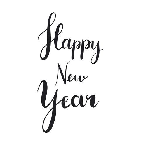 Bonne année style style typographie