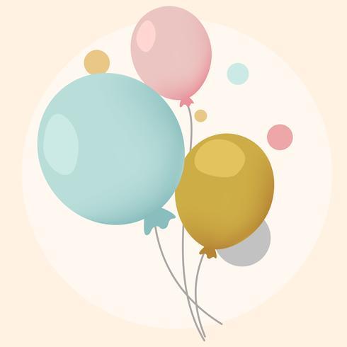 Coloridos globos festivos de diseño vectorial.