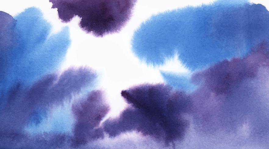 Textura de aquarela abstrata azul e roxa mancha
