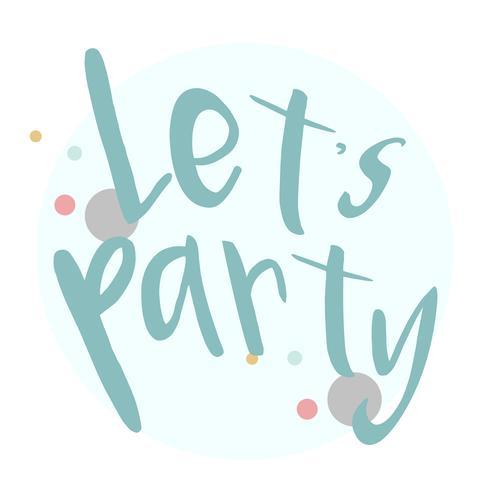 Permite vector de diseño de tipografía de fiesta
