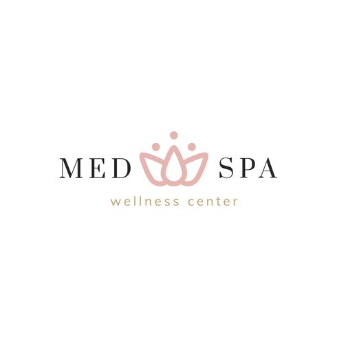 Spa e o vector de logotipo do centro de bem-estar