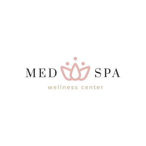 Badekurort und ein Wellness-Center-Logovektor