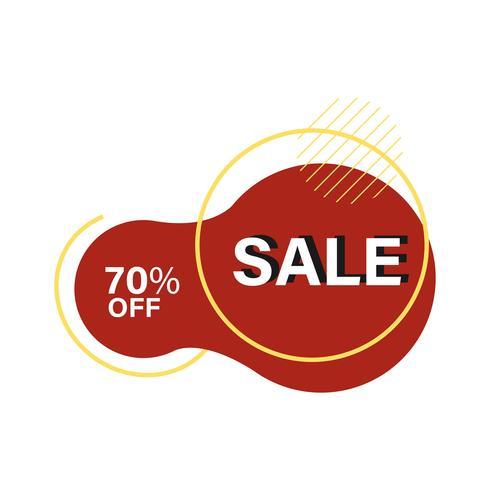 70% Rabatt auf SALE Abzeichen Vektor