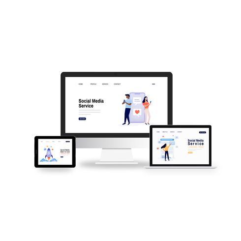 Webbdesign för social media service