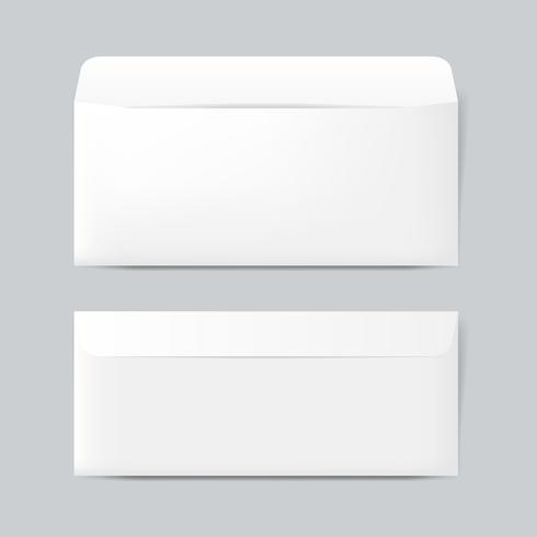 Vetor de maquete de design de envelope de papel