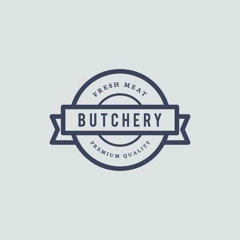 Illustration de conception de logo de boucherie