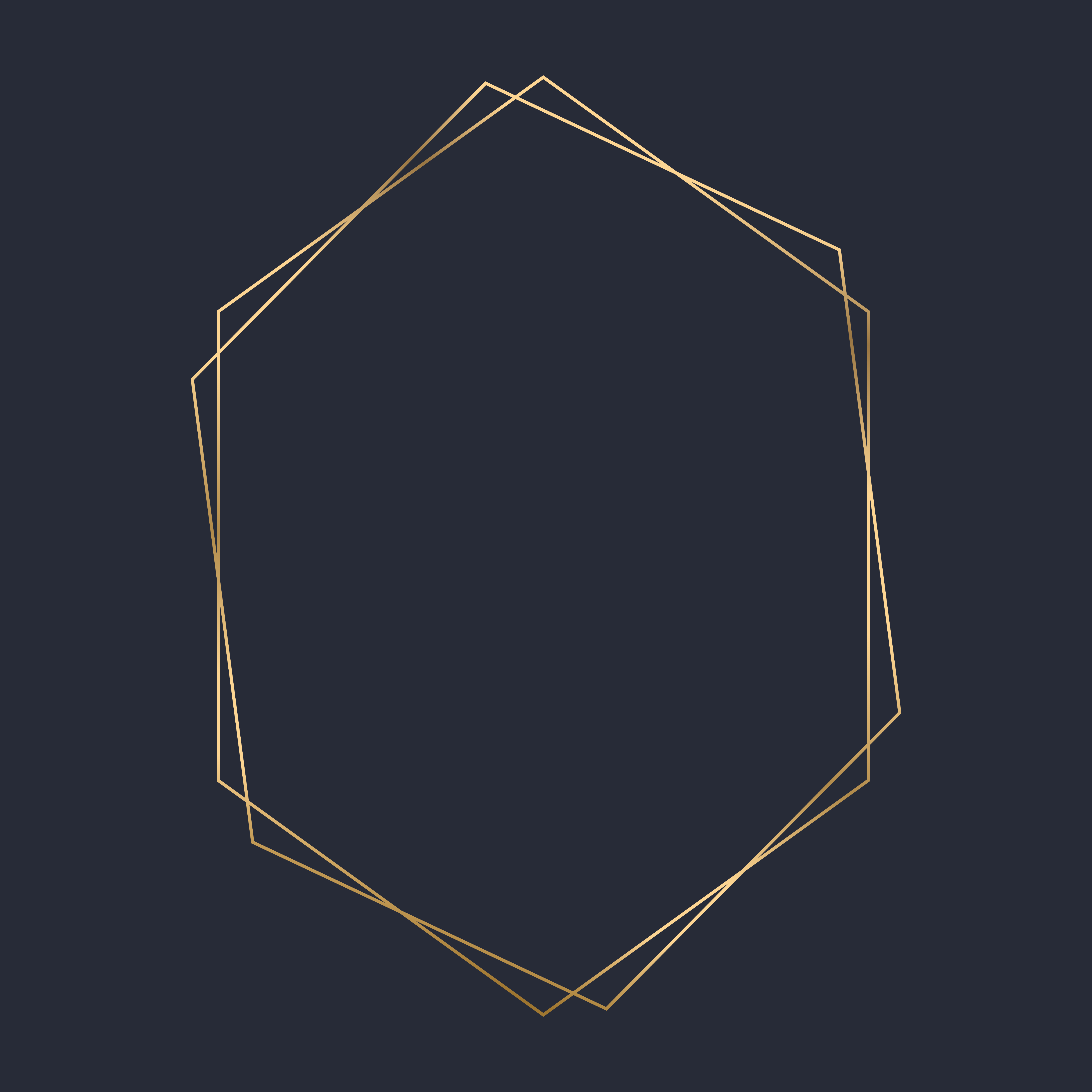 Golden Hexagon Frame Template Vector