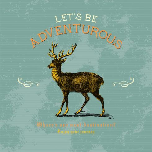 Seamos aventureros logo diseño vectorial