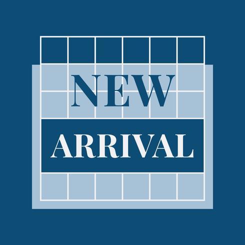 Neuer Ankunftsdesign-Ausweisvektor