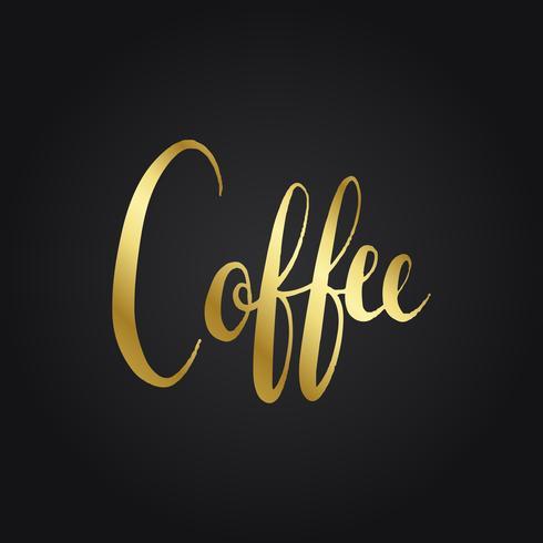 Koffie typografie woord stijl vector