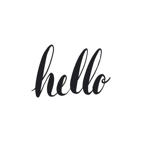 Ciao saluto stile tipografia vettoriale
