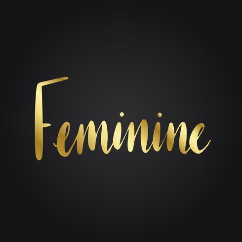 Vettore di stile di tipografia femminile di parola