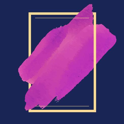 Magentarote Aquarellfahnen-Designvektor