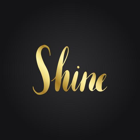 Tipografía de oro brillo