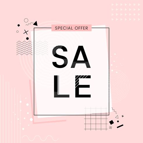 Offerta speciale vendita vettore di promozione