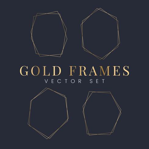 Set van gouden frame vectoren