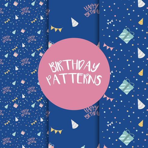 Conjunto de vectores de patrón de cumpleaños