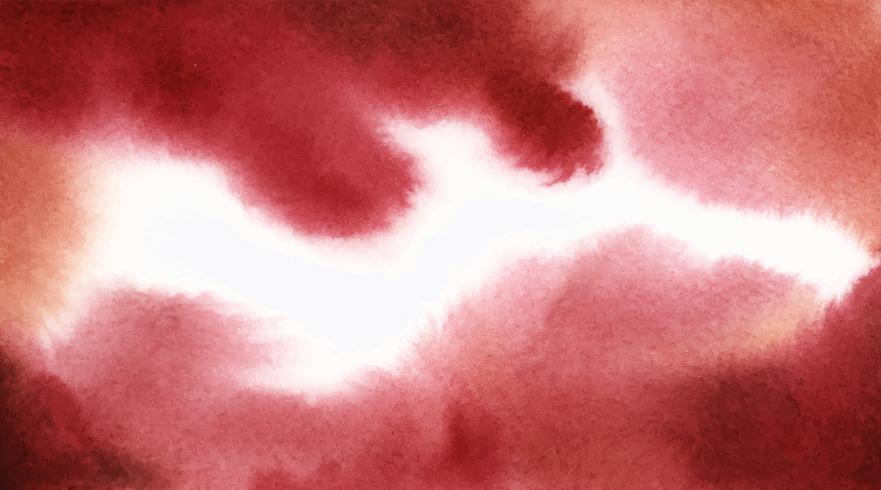 Struttura astratta della macchia dell'acquerello di bianco e rosso