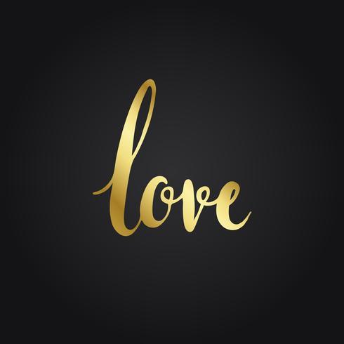 Vector de estilo de redacción de tipografía de amor