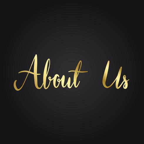 Sobre nosotros tipografía estilo vector.