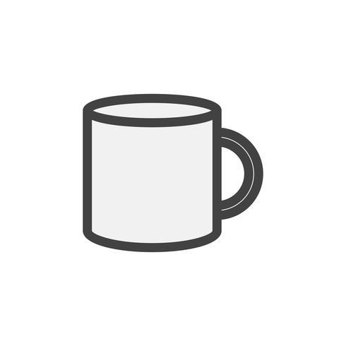 Illustration d'une tasse à café