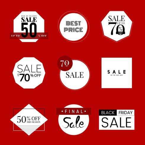 Conjunto de plantilla de diseño de promoción de venta