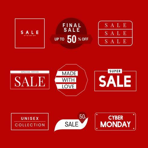 Satz von Verkaufsförderung Designvorlage