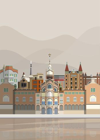 Illustration de points de repère espagnols