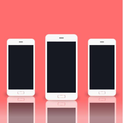 Illustration of mobile phone isolated