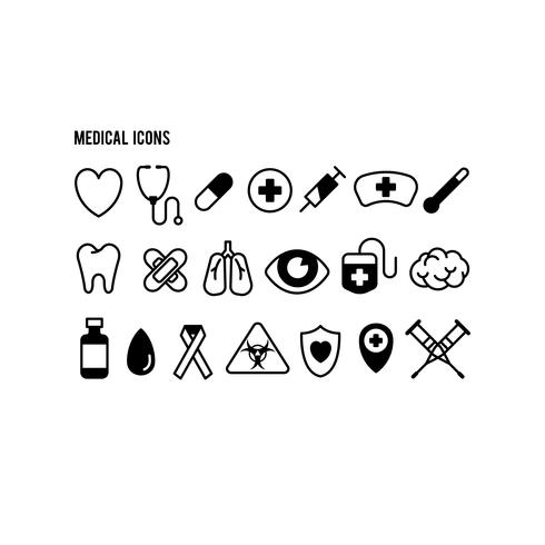 Conjunto de ícones de saúde médica