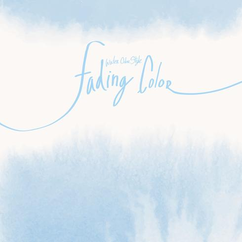 Blå akvarell stil banner vektor