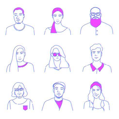 Abbildung von verschiedenen Leuten
