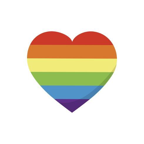 Simbolo LGBT in illustrazione grafica a forma di cuore