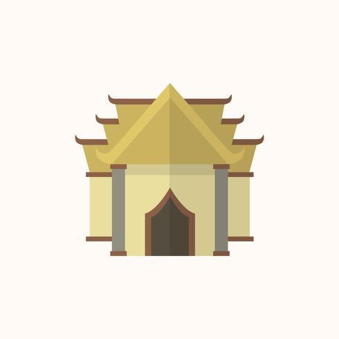 Illustration of a buddhist temple