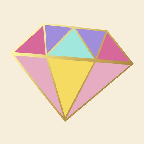 Colorful crystal diamond icon vector