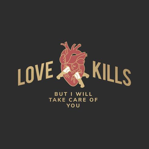 Love kills illustration