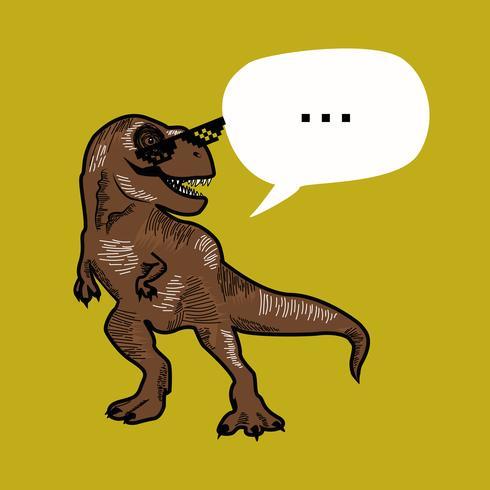 Illustration graphique géniale de T-rex dino