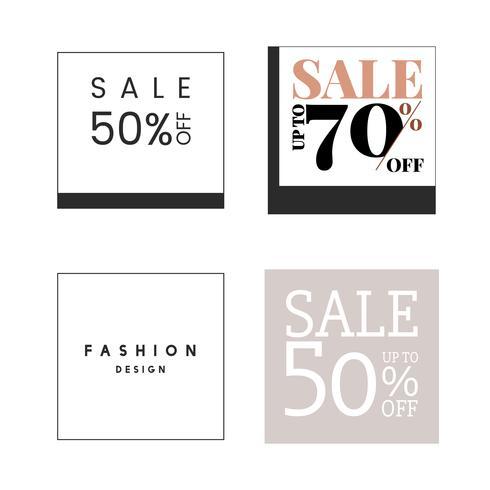 Set of sale promotion design template