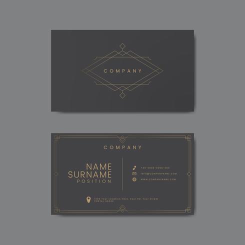 Un diseño creativo de la tarjeta de presentación.