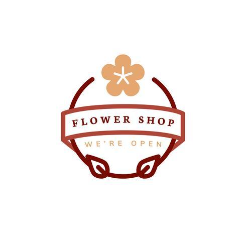 Bloem winkel logo ontwerp vector
