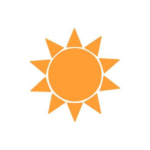 Illustration graphique jaune soleil