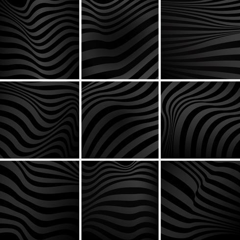 Conjunto de vectores de fondo abstracto negro
