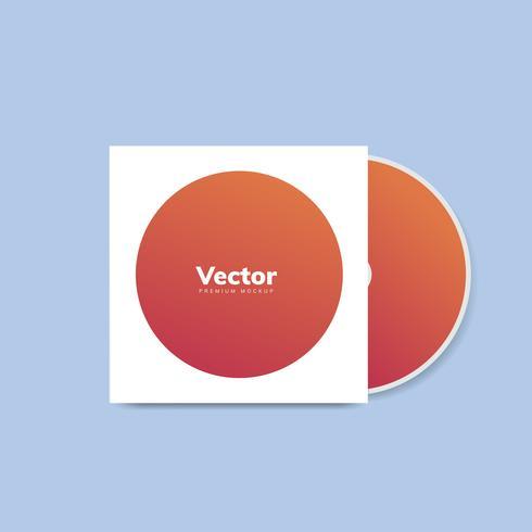 CD cover design mockup vector
