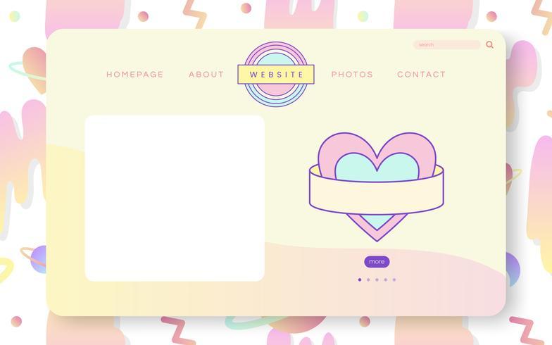 Girly pastell webbdesign vektor