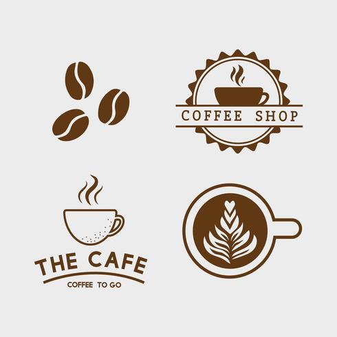 Conjunto de elementos de café y vector de accesorios de café