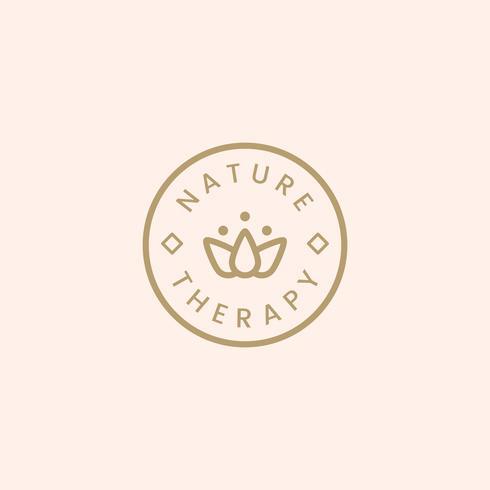 Vector de logotipo de terapia de naturaleza spa