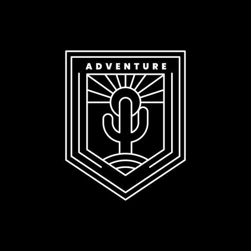 Modèle de badge logo aventure en plein air