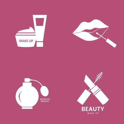 Conjunto de iconos de cosméticos de belleza