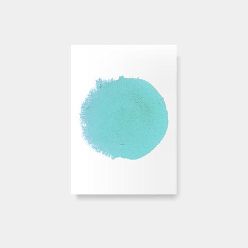 Vecteur d'affiche style aquarelle turquoise