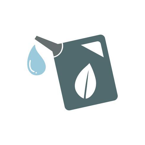 Green gas tank graphic illustration